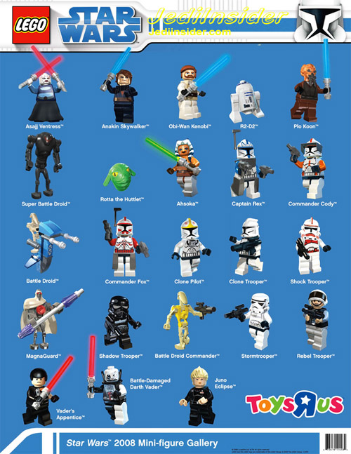 Lego 2008 Clone Wars Minifig Gallery from Toysrus (by Jediinsider.com)